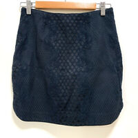 FOREVER NEW Skirt Dark Blue With Lace Pattern - Size 10 - AUS SELLER
