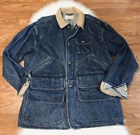 Vintage Polo Ralph Lauren Mens XL ? Denim Hunting Chore Jacket Pockets Curdoury