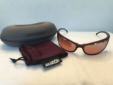2000s Vintage ARNETTE AN4008 GRITTY in Metallic Red with Rose Tint Lenses MINT!