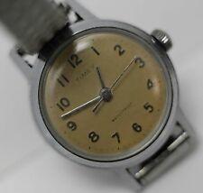 1963/64 Timex Three Hand Military Field 28mm Unisex Wrist Watch Runs/Keeps Time