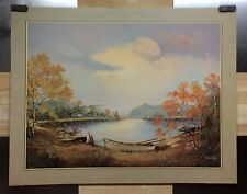ROBERT COLLINS ART POSTER LITHO PRINT NO.198-9115 22 X 28 INCH 1986 LAKESIDE