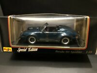 Maisto SpecialEdition 1989 Porsche 911 Speedster DieCast 1:18 Vintage New In Box