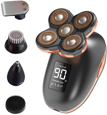 Electric Shavers for Men, 5 in 1 Wet and Dry Electric Razor Bald Head Shaver