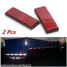 2 Pcs Red Self Adhesive Car Truck Safety Reflective Warning Plate/Tape Stickers