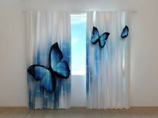 "Fotogardinen ""Schmetterlinge"" Vorhang 3D Fotodruck, Fotovorhang, Maßanfertigung"