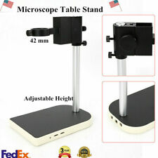 Microscope Video Camera Adjustable Boom Large Stereo Arm Table Stand 42mm Ring