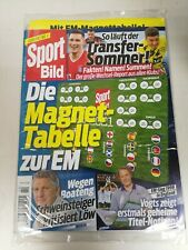 Sport Bild Sonderheft EM2021 mit Magnet Tabelle