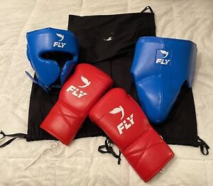Fly Boxing Gloves 14oz Small Headgear/Cup (Winning, Sabas, Rival, Reyes, Grant)