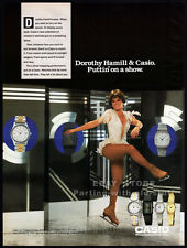 CASIO watches__DOROTHY HAMILL__Original 1990 Trade print AD promo_Figure skating