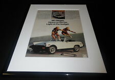 1978 MG Midget Framed 11x14 ORIGINAL Vintage Advertisement