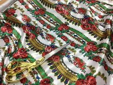 **NEW** Smooth Liquid Satin Striped Floral Roses African Print Fabric*FREE P&P*