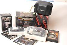 Nishika N8000 35mm Film camera w/case & flash 3010 - Japan