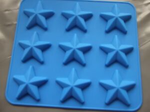 Silicone Mould Small Star Tray /Pan- Chocolate, Wax Melts etc