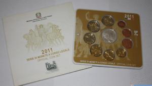 NL* ITALIA Divisionale 2011 9 Valori con 5 Euro Argento UNITA' D'ITALIA FDC Set
