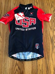 Cuore Gold Cycling Jersey USA Women Size Small **NEW** Race Cut