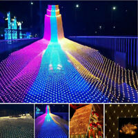 LED String Fairy Lights Net Mesh Curtain Wedding Party Home Garden Outdoor Decor