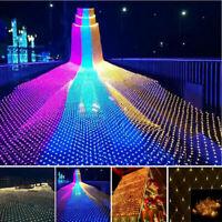 LED String Fairy Lights Net Mesh Curtain Wedding Party Home Garden Outdoor Decor