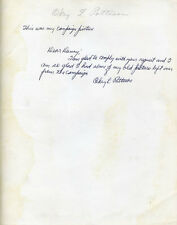 OKEY L. PATTESON - AUTOGRAPH NOTE SIGNED