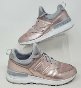 New Balance Womens 574 WL574SFF Pink Rose Running Shoes Lace Up Size 9.5