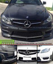 V Style Carbon Fiber Front Lip Spoiler Mercedes Benz W204 C63 F/L Coupe Sedan