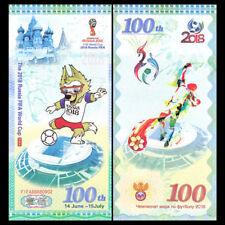 ★★★ RUSSIE : BILLET TEST 100 ROUBLES COUPE DU MONDE FIFA 2018 ★★★★★