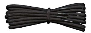 Black Boot Laces - 4 mm round - ideal for work or hiking boots Dr Martens