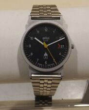 Braun Armbanduhr M Typ 3802 mit Band  Design.D.Lubs/Dieter Rams Made In Germany