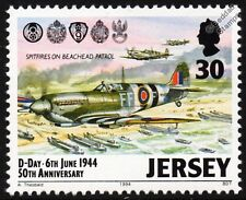 WWII D-DAY - RAF Supermarine SPITFIRE Aircraft Protects Landing Craft Stamp