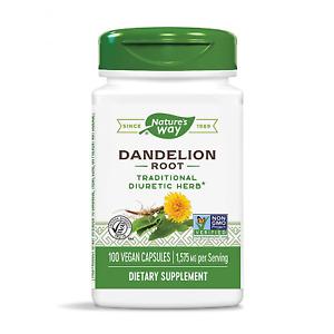Natures Way Dandelion Root, Digestive Aid, 100 Vegetarian Capsules