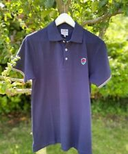 Mens Short Sleeve Stripe Tipped Polo Shirt in Navy Casual Cotton S-XXL SSAFA
