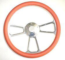 "New World Motoring Kubota, Tomberlin Golf Cart 14"" Orange Steering Wheel Incl..."