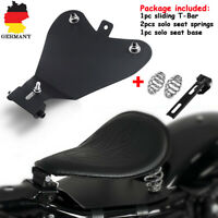 3''Sitzfedern Solo Sitz Feder Montage Halter+Grundplatte für Harley Honda Yamaha