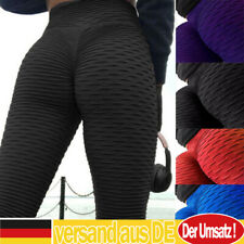 Damen Yoga Hosen Leggins Push Up Butt Lift Anti Cellulite Sport Kompression Hose