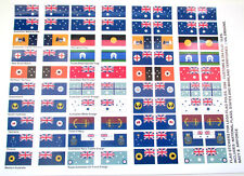 AUSTRALIAN FLAG STICKERS for MODELS, TOYS, FLAG POLES, 3596