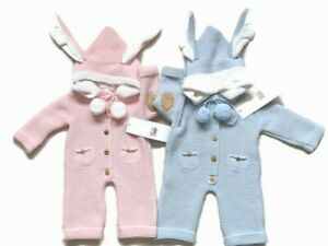 Baby boy,girls Spanish knitted pom pom all in one  snowsuit  outfit suit set