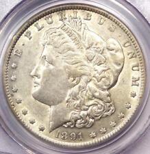 1891 VAM-2A Morgan Silver Dollar $1 Doubled Ear / Moustache Variety - PCGS AU50!