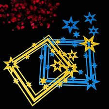 Star Frame Cutting Dies Stencil Template for DIY Scrapbook Album Craft Decor