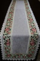 Organza Embroidered Lace Placemat Table Runner Dresser Scarf Wedding Party Event