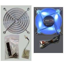 New CMT-ALF-9S 90MM Desktop PC CASING Aluminium Frame Fan Four  BLUE Bright LEDs