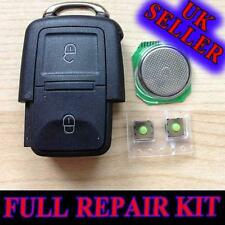 VW GOLF POLO PASSAT SEAT LEON  SKODA FABIA 2 BUTTON REMOTE KEY FOB REPAIR  KIT