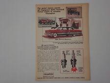 advertising Pubblicità 1956 CHAMPION e PACKARD PATRICIAN