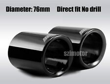 2pcs 2.99in Titanium black Coating Car exhaust pipe tips for MPower 320/328