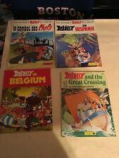 Vintage Asterix 4 book lot