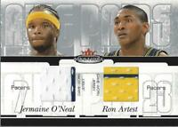 2003-04 Mystique Awe Pairs Dual Jerseys Jermaine O'Neal Ron Artest Jersey/350