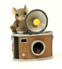 Charming Tails 89/112 Your Pretty As A Picture Mouse and Camera Figurine