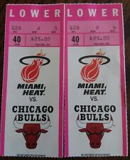 Miami Heat vs. Chicago Bulls 1991 Ticket Stubs Michael Jordan NBA Basketball