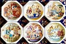 Set of Six Limited Edition Franklin Mint Teddy Bear Porcelain Collector Plates