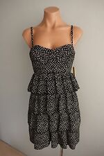Alice + Olivia US NWT Black & White Tiered Skirt Dress sz US 6 Aust 10 USD $484
