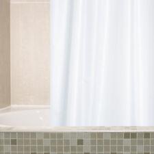 NEW   Shower Curtain   Shower Rings   White  Plain 100% Polyester
