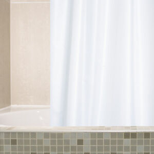 NEW | Shower Curtain | Shower Rings | White |Plain 100% Polyester